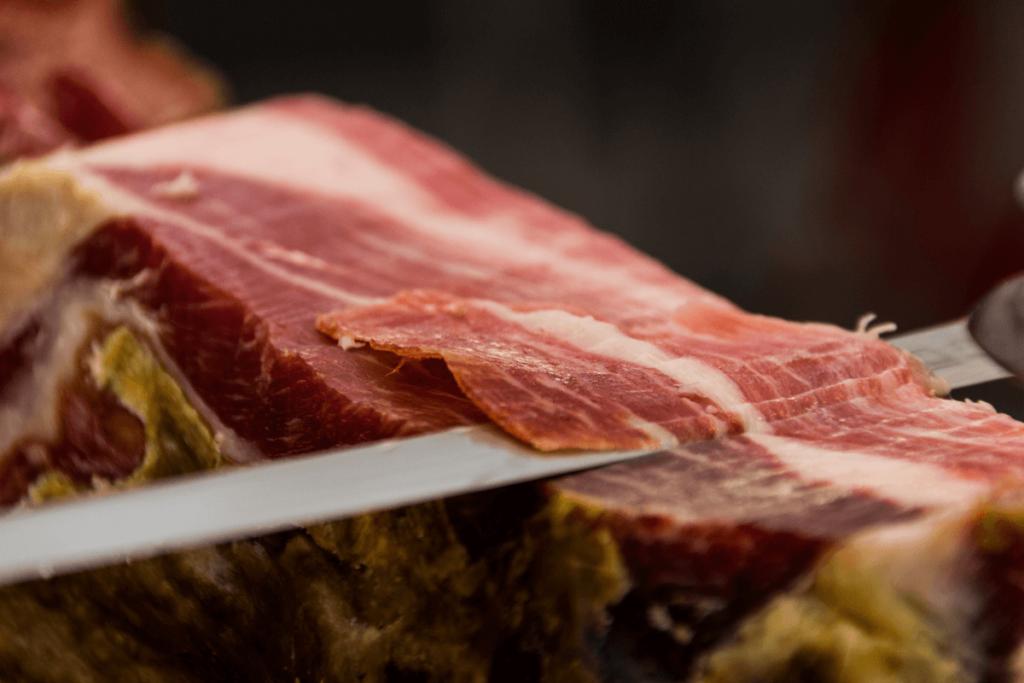 Iberico Pata Negra ham on the bone
