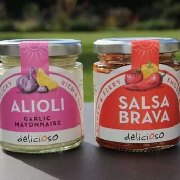 Delicioso salsa Brava and Alioli garlic mayonnaise