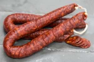 mild cured chorizo horseshoe