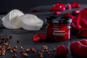 F68 Raspberry Rose Petal and Szechuan Pepper Cheese Pairing Condiment