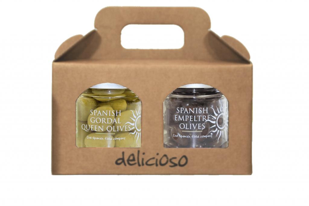 Spanish olive gift set