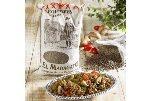 Dried Spanish lentils, wholefoods